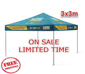 special deal 3x3m Printed roof