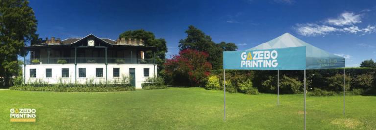 Banner sign gazebo printing