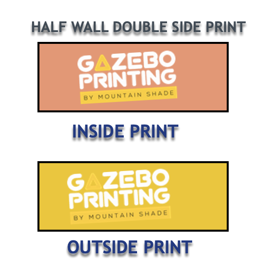 double sided half wall